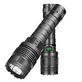 XANES® 1479A XM-L2 500LM Taktische Taschenlampe Außenleuchten 3 Modi Zoombarer wasserfester USB-Akku für Campingjagdfischen