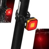 XANES TL07 COB VEDENÝ 6 Modes Bike Tail Light Voděodolný USB Charging Warning Light