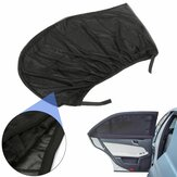 Universal Car Sunshade Curtain Black Rear Side Window Provides UV Protection