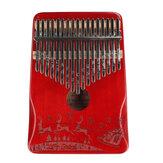 ZANI 17 Tone Mahogany Christmas Kalimba Thumbs Piano Музыкальный инструмент