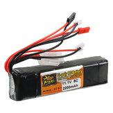 ZOP Power 11.1V 2200mAh 3S 8C Batería de Lipo JR JST FUBEBA Enchufe para Transmisor