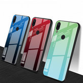 Bakeey ™ Gradient Color Tempered Glass + Soft TPU Contraportada protectora Caso para Xiaomi Redmi Note 7 / Note 7 Pro No original