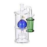 5.3inch Plug-in Mute Type Water Glass Pipes Crystal Filter Water Pipe Bottle