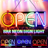 OPEN Neon Sign Advertising Light Hanging Bar Pub Party Home Room Wall Decoration 100-240V US Plug