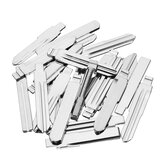 24Pcs Metal Blank Uncut Flip Remote Key Blade Lock Picks Tools
