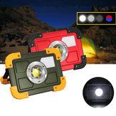 30WCOB4ModoLED USB Portátil Recarregável Ponto de Luz de Inundação Caminhadas Camping Lâmpada de Trabalho Ao Ar Livre