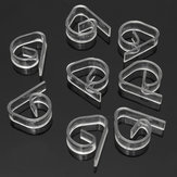 8pcs/lot Clear Plastic Transparent Tablecloth Cover Clips for Wedding Props Table Skirting Buckle