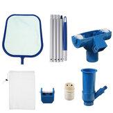 Kit de limpieza de agua de piscina Aspiradora de natación Hoja Espumadera herramienta Juego extraíble herramientas