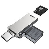 DM CR006 2-in-1 Type-C USB TF Card Reader for Phones Tablets Laptops