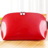 Honana HN-CB06 PU Cosmetic Storage Bag 10 Colors Portable Waterproof Travel Toiletry Makeup Bag