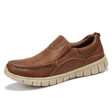 Menico Men Microfiber Leather Soft Slip On barco Zapatos
