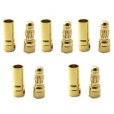 5 Pair 5.5mm Gold Bullet Connector Banana Plug For ESC Battery Motor