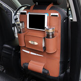 Faux Leather Car Seat Storage Bag 5 Colors Travel Solid Hang Bag