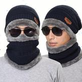Knitted Hat Scarf Cap Neck Warmer Winter Hats For Men Women Skullies Beanies Fleece