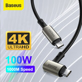 Baseus 100W 5A USB-C to USB-C Power Delivery PD3.0 QC4.0 Fast Charging Coxial Cable USB 3.1 gen2 10Gbps Data Sync Cord 4K HD Display Video Output For Samsung Galaxy S20 Huawei P40 For iPad Pro 2020 MacBook Pro 2020