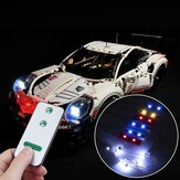 DIY LED Light Lighting Kit ONLY For LEGO 42096 Technic 911 RSR Bricks+Remote Control