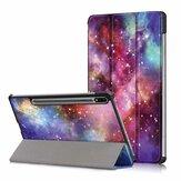 Планшет для печати в три раза Чехол Чехол для вкладки Samsung S7 SM-T870 T875 - Версия для галактики
