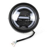 5.7-6.5inch motorfiets retro zwart metalen LED koplamp lamp dagrijverlichting voor CG125 GN125 voor Harley cafe racer / Honda