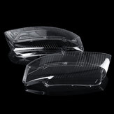 Plastic Headlight Head Lamp Lens Cover Pair Replacement For Audi A4 B6 2002-2005