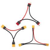 XT60 XT30 Dziekani Seria T Plug Wiązka przewodów Kabel akumulatora Podwójny przedłużacz Y Rozgałęźnik silikonowy
