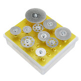Drillpro 10st Diamond Cutting Discs Cut off Wheel Set For Dremel Rotary Tool Saw Blade
