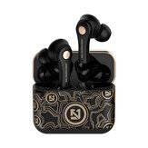 Bakeey New Graffiti TWS bluetooth 5.0 Earbuds Binaural Stereo Wireless Music Earphone Auto Pair Headset for Samsung