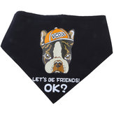 Yani KG-1 Dog Bandana Dog Scarf Black Let's Be Friend Puppy Pet Accessory