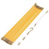 10FTfibredeverrecourantfil câble coaxial électriqueTape traction push kit fibre de verre câble extracteur