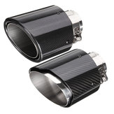2.6 Inch 66 to 114mm Universal Carbon Fiber Car Auto Exhaust Pipe Tail Muffler End Tip