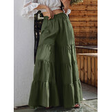 Original              Women Flare Swing Wide Leg Pants Casual High Waist Culottes Skirt