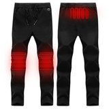 Electric Heated Warm Pants Men Women Heating Base Layer Elastic Trousers USB