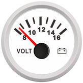 Calibre do medidor do volt 8-16 volts Voltímetro do fuzileiro naval do barco da caravana