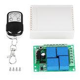 2 pz 12 V 4 Vie Pulsante Wireless remoto Relè di Controllo Relè ricevitore Garage Sportello Accesso luce a led