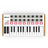 Worlde Professional 25-клавишный MIDI-контроллер Клавиатура USB-MIDI-барабан и ультра-портативный мини-MIDI-контроллер Электронное аудио