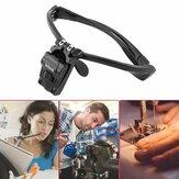 5X Objektiv verstellbares Kopfband Lupe Lupe mit LED Lupen DIY Schmuck Uhr Reparatur