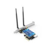 EDUP EP-9619 Placa de rede PCI-E 600Mbps Dual Banda 2.4G / 5GHz 2 * 5dBi Antenas Wireless WiFi bluetooth4.0 PCI-Express Adaptador de placa LAN para PC de computador
