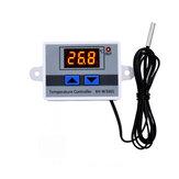 XH-W3001 10A 12 فولت 24 فولت 220 فولت تيار متردد رقمي LED متحكم في درجة الحرارة لحاضنة التبريد ومفتاح التدفئة ترموستات NTC المستشعر