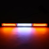 45cm 3 Section Single-sided Car Flashing Led Light COB Engineering Vehicle Warning Ceiling Bar Light