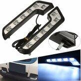 Pair 12V 5W L Shaped White Car VAN Driving Lamp LED DRL Daytime Running Fog Light