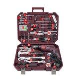 Set di trapani elettrici CREST 105130 con servizio integrato domestico e cassetta degli attrezzi in plastica