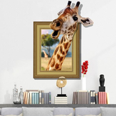 3D Giraffe Living Room Quarto Animais Floor Home Background Wall Decor Etiquetas criativas