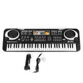 61 مفاتيح لوحة مفاتيح إلكترونية للأطفال البيانو مع مجموعة ميكروفون