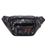 Men's Pockets Waterproof Shoulder Slung Mobile Phone Bag Camouflage Purse Waist Bag