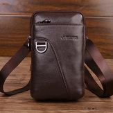 Men Genuine Leather Large Capacity Waist Bag