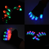 7 Modo LED Iluminação dos dedos Luvas intermitentes Glow Mittens Rave Light Festive Event Party Supplies