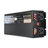 4000 W Tepe Saf Sinüs Dalga Inverter DC12V / 24 V / 48 V / 60 V IÇIN 220 V Güç Inverter Gerilim Dönüştürücü