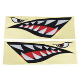 Shark Teeth Mouth & Eyes Waterproof Vinyl Decal Sticker For Car Shark Boat Kayak