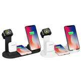 Bakeey Caricabatterie multifunzione 4 in 1 da 10 W con caricabatterie wireless per Apple Phone Watch
