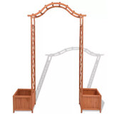 KCASA Trellis Rose Arch with Planters 70.9