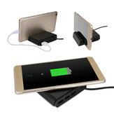 Wielofunkcyjna bezprzewodowa ładowarka mobilna QI 3 w 1 Stand Holder 3 port USB Ładowarka USB